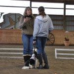 Liz and Lexi get instructions from the judge