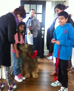 """Canine Actor """"Ruckus"""" on the set of BCAA commercial"""
