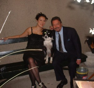 Hannah on set with Jennifer Tilly and Tim Curry - Bailey's Billions